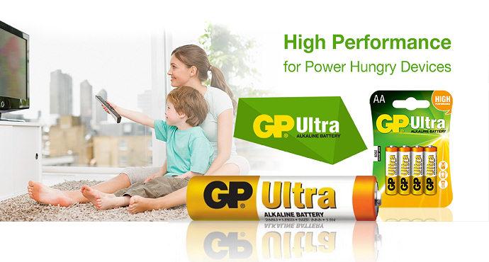 Alkalická baterie GP ULTRA pro dálkové ovladače